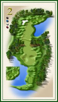 Oaks course hole 2
